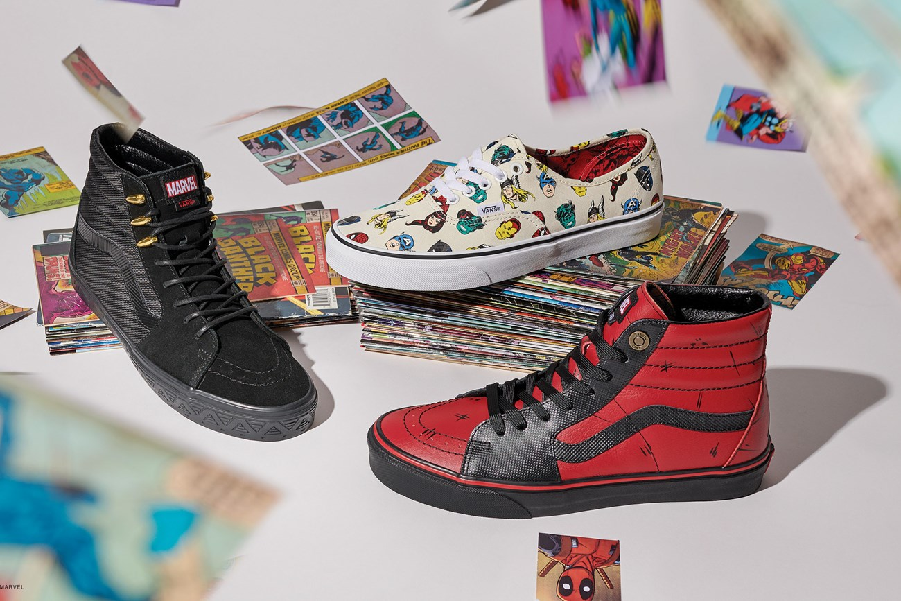 Marvel x Vans Collection at Coming Soon Shop Release: 080618
